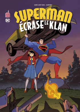 couverture comics Superman écrase le Klan