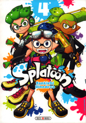 couverture manga Splatoon T4