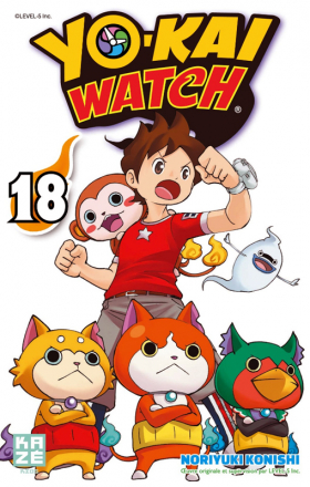 couverture manga Yo-kai watch  T18