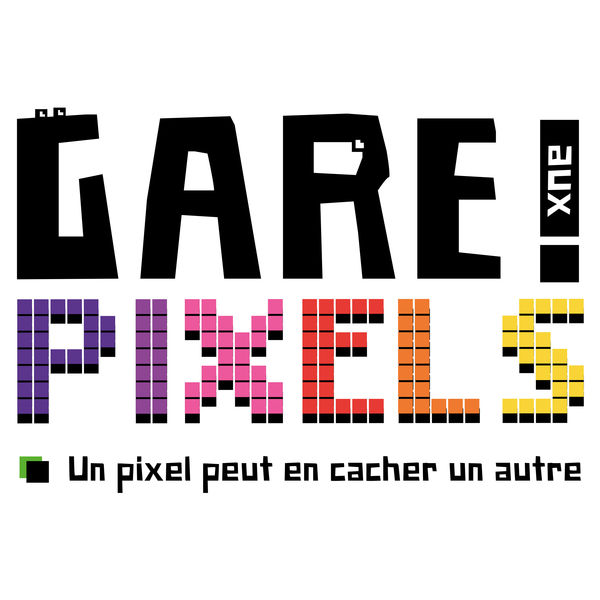 logo podcast Gare aux Pixels - Attention un pixel peut en cacher un autre - Retrogaming Podcast